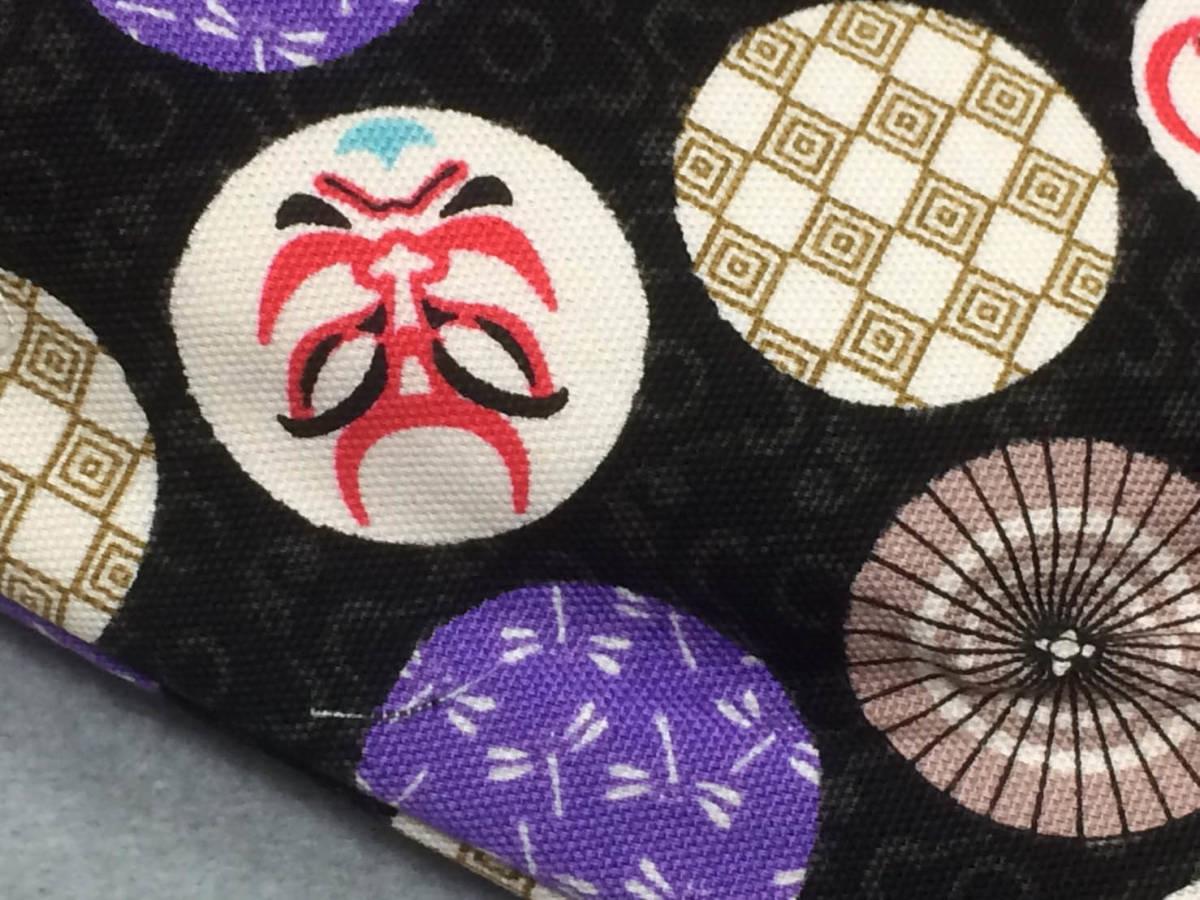 新柄入荷★お祭り・着物におしゃれな信玄袋【歌舞伎/黒】_画像3