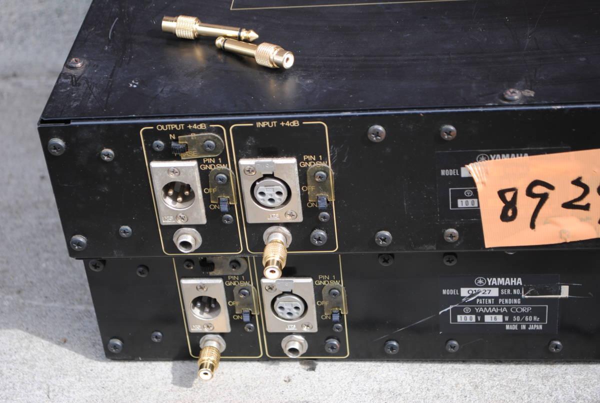 ヤマハ Model Q1027イコライザー(2台)8924完動品【3ヶ月保証】_RCA変換お付けします