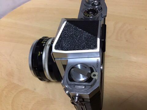 Nikon F 初期型(640F) NIKKOR-S auto 1:2 f=5cm付き_画像3