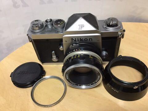 Nikon F 初期型(640F) NIKKOR-S auto 1:2 f=5cm付き