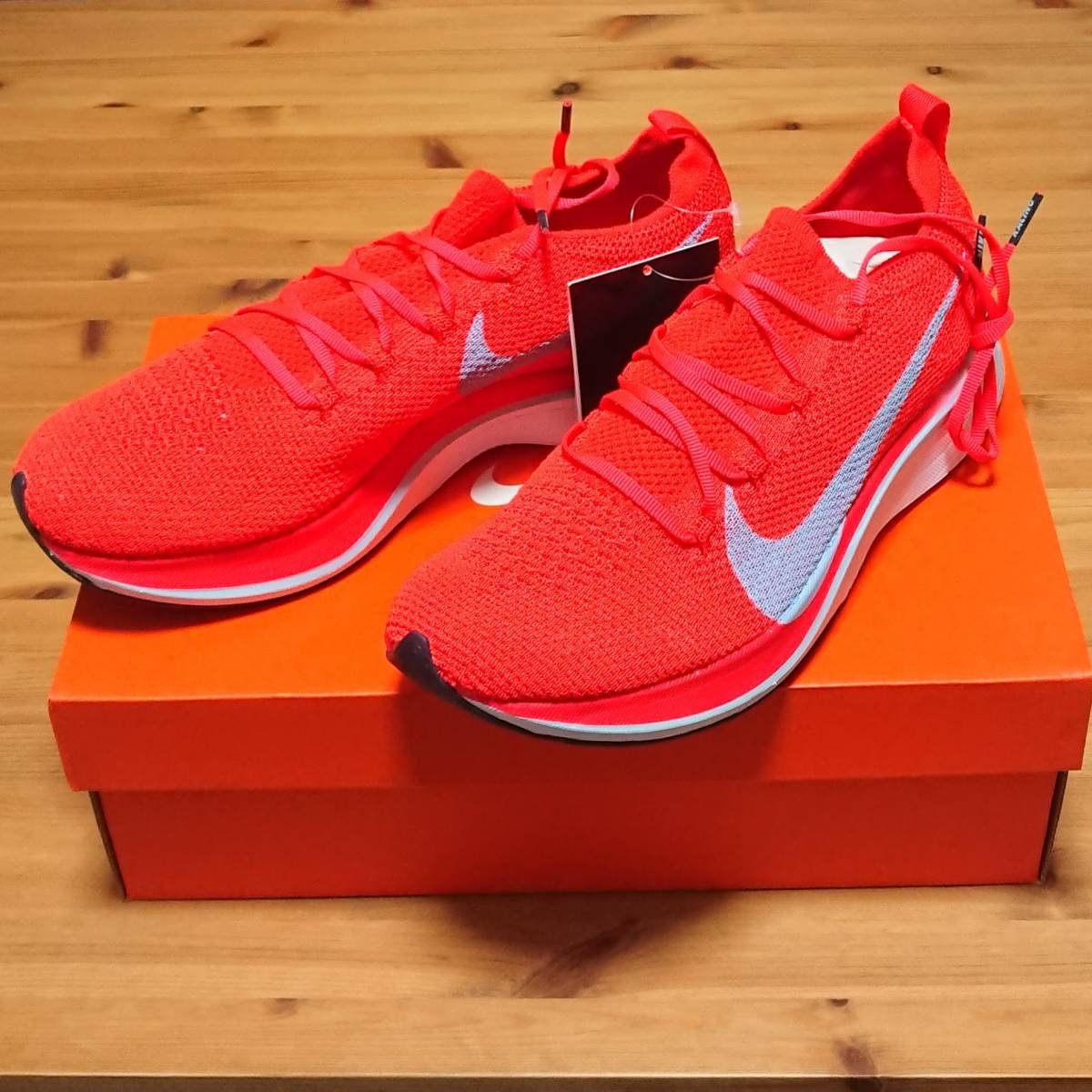 f93b901d4c49 free shipping 26cm NIKE ZOOM VAPORFLY 4% FLYKNIT Nike zoom veipa- fly fly  knitted