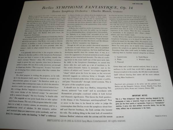 ミュンシュ ベルリオーズ 幻想交響曲 Op.14 1954年 ボストン交響楽団 シャルル リマスター オリジナル 紙 未使用美品_未使用美品リマスターオリジナル紙ジャケCD