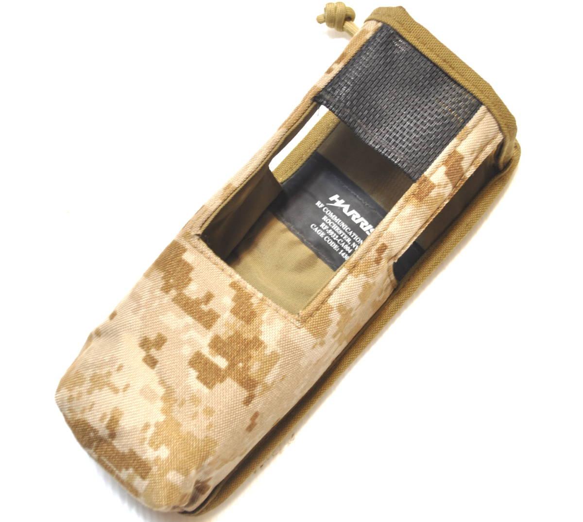 新品同様 米軍放出品 HARRIS ハリス AN/PRC-152 AOR デザート デジタル迷彩 無線機 ラジオポーチ/ USMC marsoc recon seals FSBE_画像1