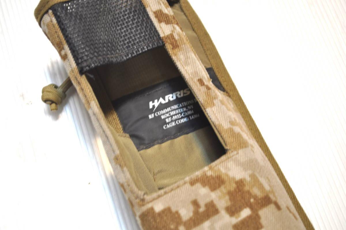 新品同様 米軍放出品 HARRIS ハリス AN/PRC-152 AOR デザート デジタル迷彩 無線機 ラジオポーチ/ USMC marsoc recon seals FSBE_画像3