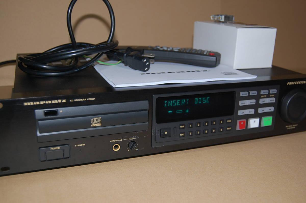 used Marantz marantz CDR631 CD recorder owner manual ( copy ), remote  control, new
