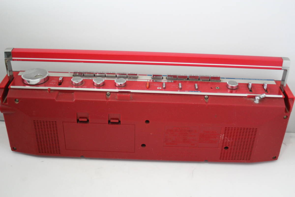 SANYO 三洋 ステレオラジカセジャンク ステレオラジオダブルカセットレコーダー MR-WU4MKⅡ(R) 日本製 アカB_画像5