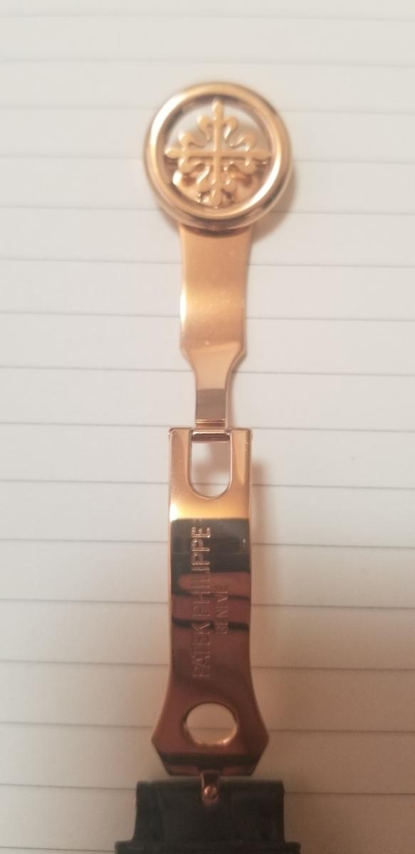 PATEK-PHILIPPE パテックフィリップ 18K ローズゴールド16mm Dバックル 入手困難