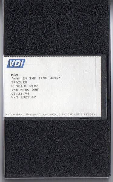 【SALE 鉄仮面コレクション 貴重品 激レアビデオ  MGM  MAN IN THE IRON MASK  TRAILER】激レア/オリジナル品
