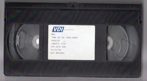 【SALE 鉄仮面コレクション 貴重品 激レアビデオ  MGM  MAN IN THE IRON MASK  TRAILER】激レア/オリジナル品_画像2
