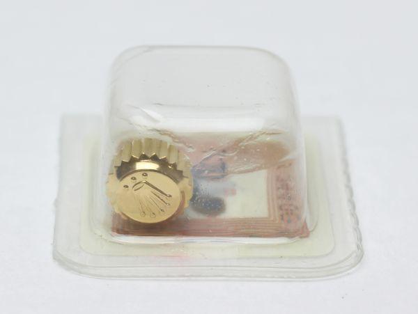 純正 新品 ロレックス ROLEX 7mm 24-703-8 リューズ 竜頭 ゴールド サブマリーナ デイトナ 16613 16523 部品 パーツ 181304_画像3