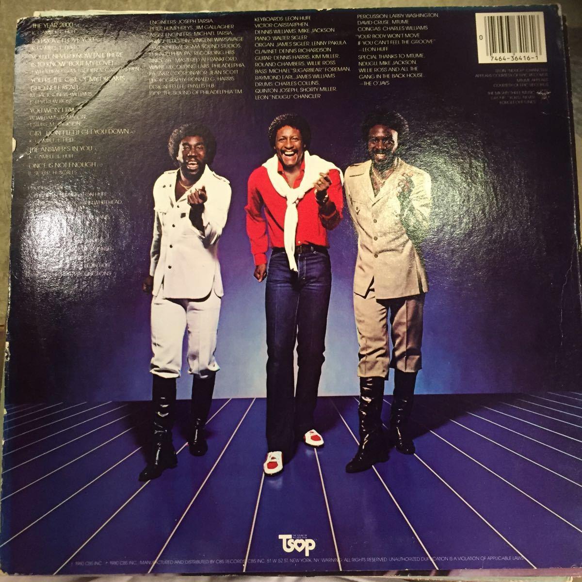 TSOP/THE O'JAYS/THE YEAR 2000/US盤 中古レコード_画像2
