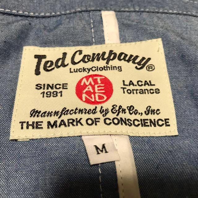 新品! Ted Company (テッド カンパニー) カバーオール サックスブルー (M) | MENS メンズ 火吹き小僧 TATOO タトゥー ロッカー バイカー_画像3