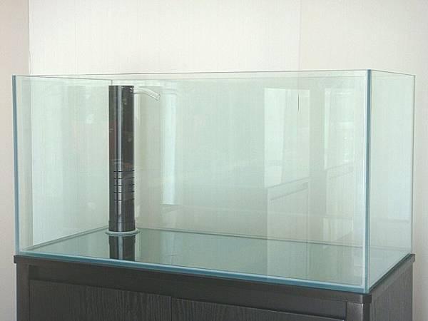 ★900×450オーバーフローガラス水槽セット★3重管仕様_クリアー三重管仕様へ+12000円で変更可能