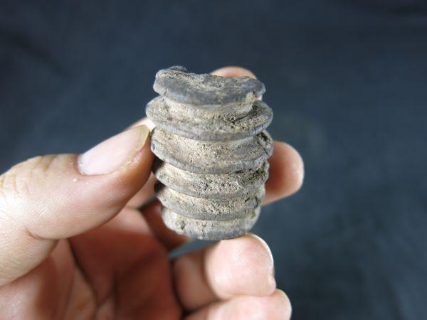 タイ バンチェン土器文様型石③ 紀元前1000年 遺跡発掘品 文化財 珍品 ユネスコの世界遺産 古代文明_画像8
