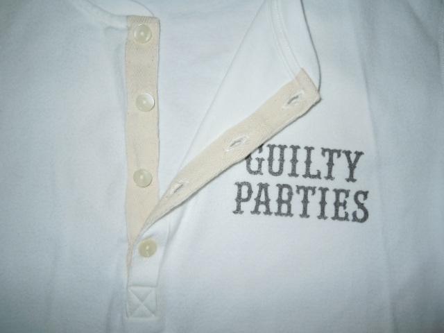 貴重 WACKO MARIA 七分袖 ヘンリーネック カットソー 新品 /フライスコットン,ロンT,長袖Tシャツ,L,メンズ,アンダーウェア,GUILTY PARTIES_画像3