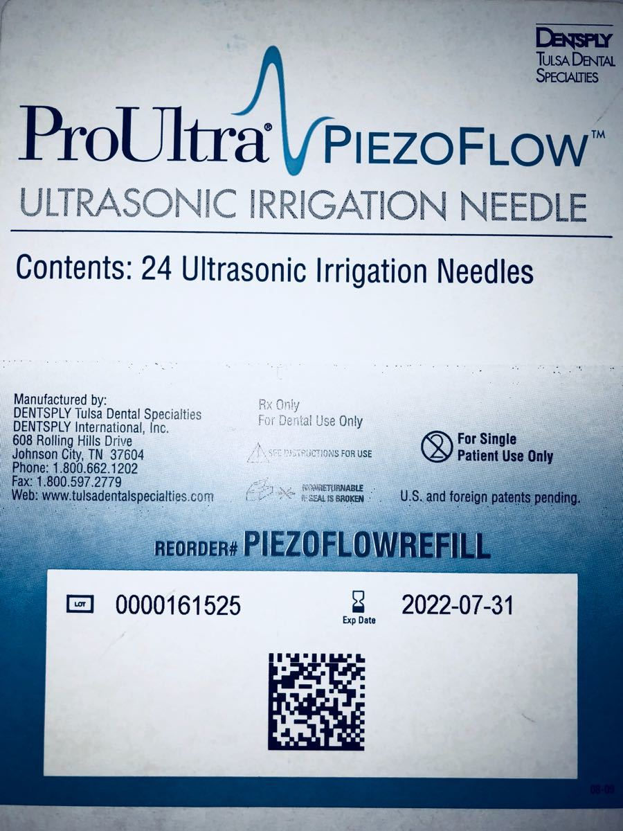 tooth   root tube washing for chip Pro Ultra piezo flow chip li Phil