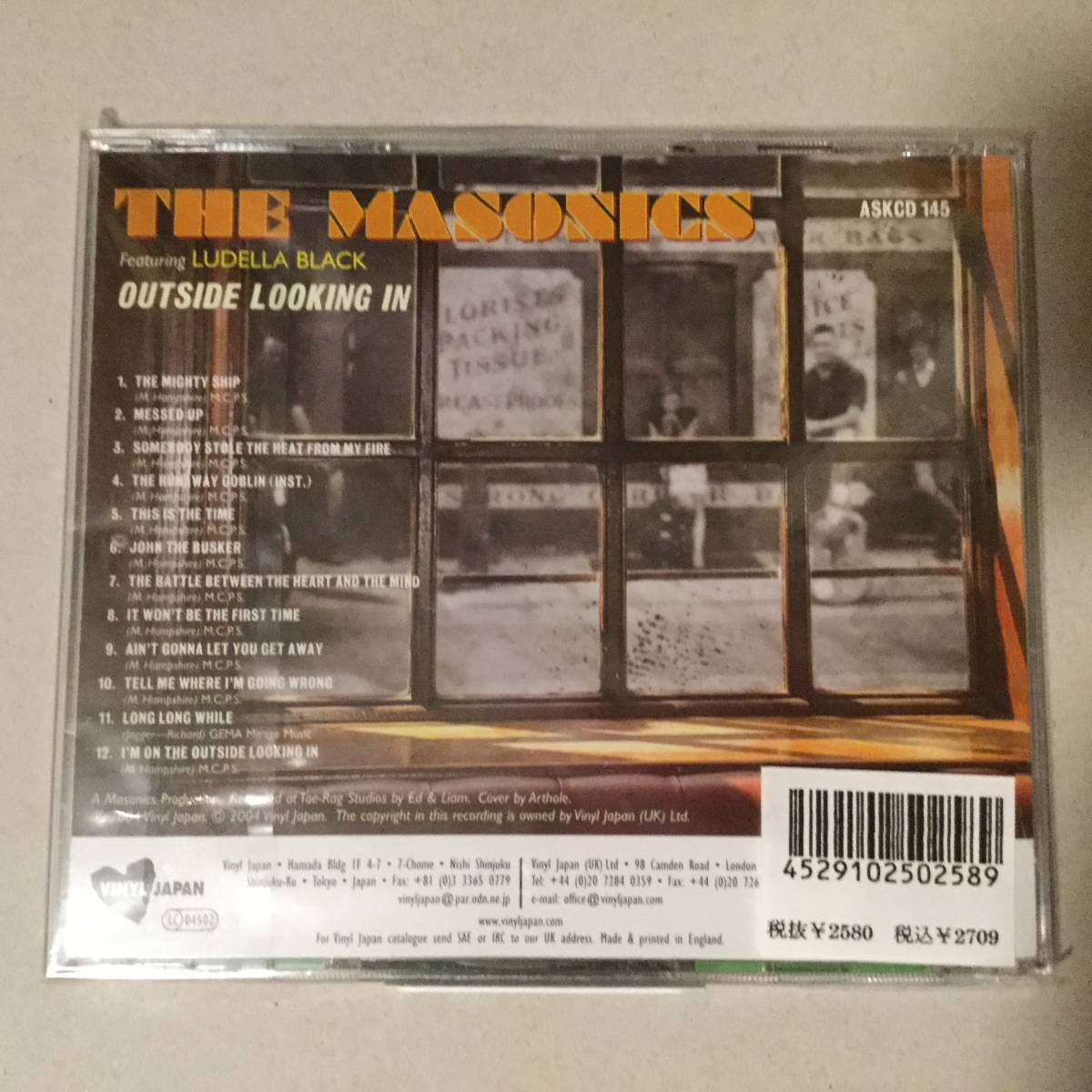 The Masonics CD Milkshakes Headcoats Headcoatees Garage Punk Rock ガレージロック_画像2