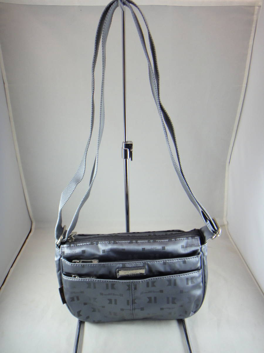 67bef3addbe612 unused goods *KOSHINO HIROKO SPORTS Koshino Hiroko sport shoulder bag  storage great number