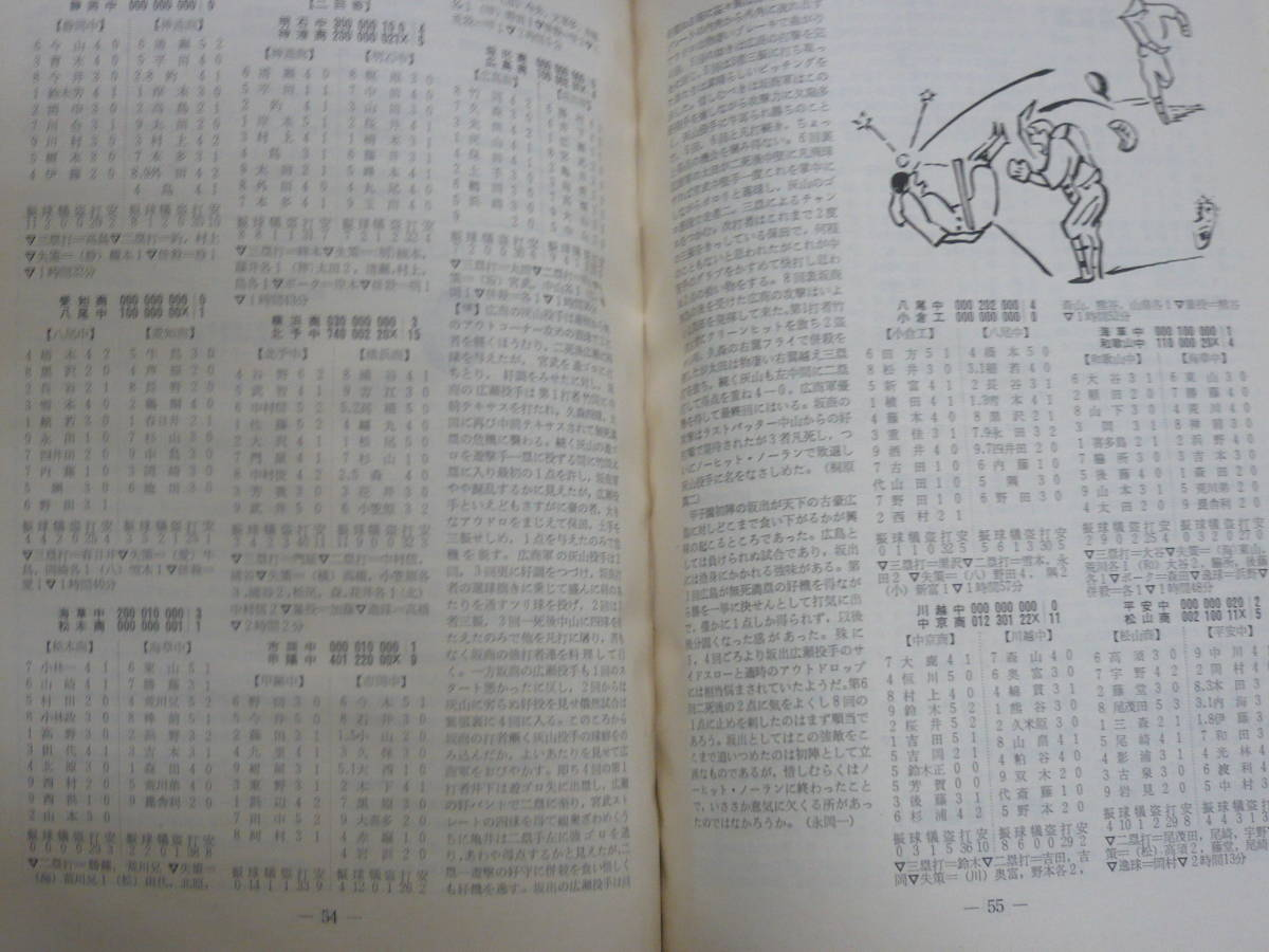 【非売品】 『選抜高校野球 三十五年史』 毎日新聞社 /昭和39年_画像4