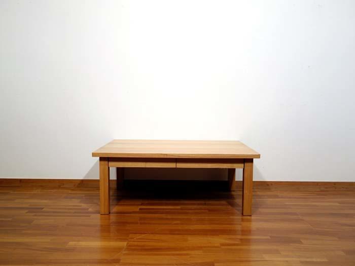 美品 無印良品 タモ材 ローテーブル 引出し付 / 北欧 unico 天童木工 ジャーナルスタンダ