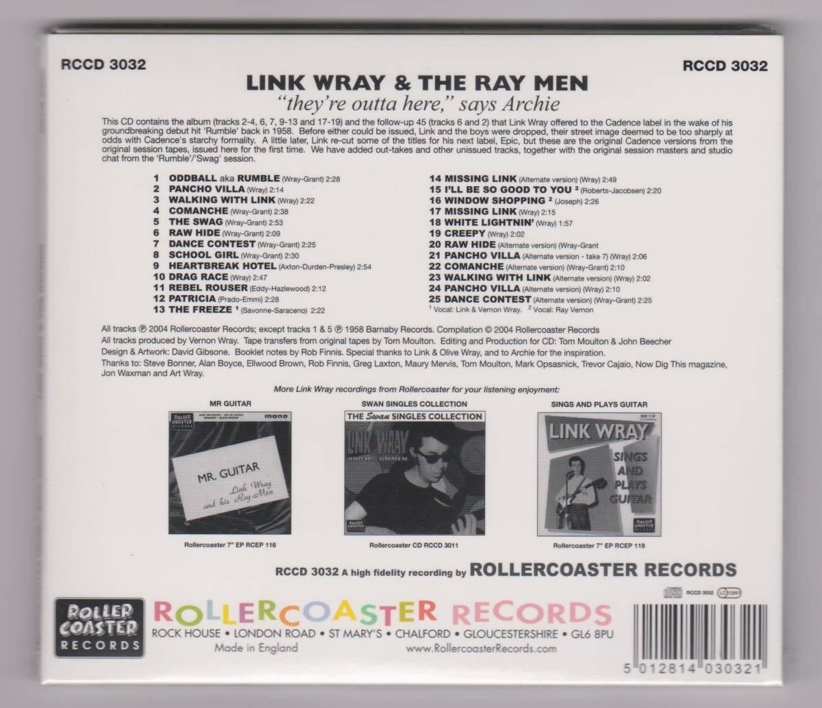 """【新品/輸入盤CD紙ジャケット仕様】LINK WRAY AND THE RAY MEN/""""They're Outta Here,"""" Says ARCHIE_(出品商品はシールド状態です)"""
