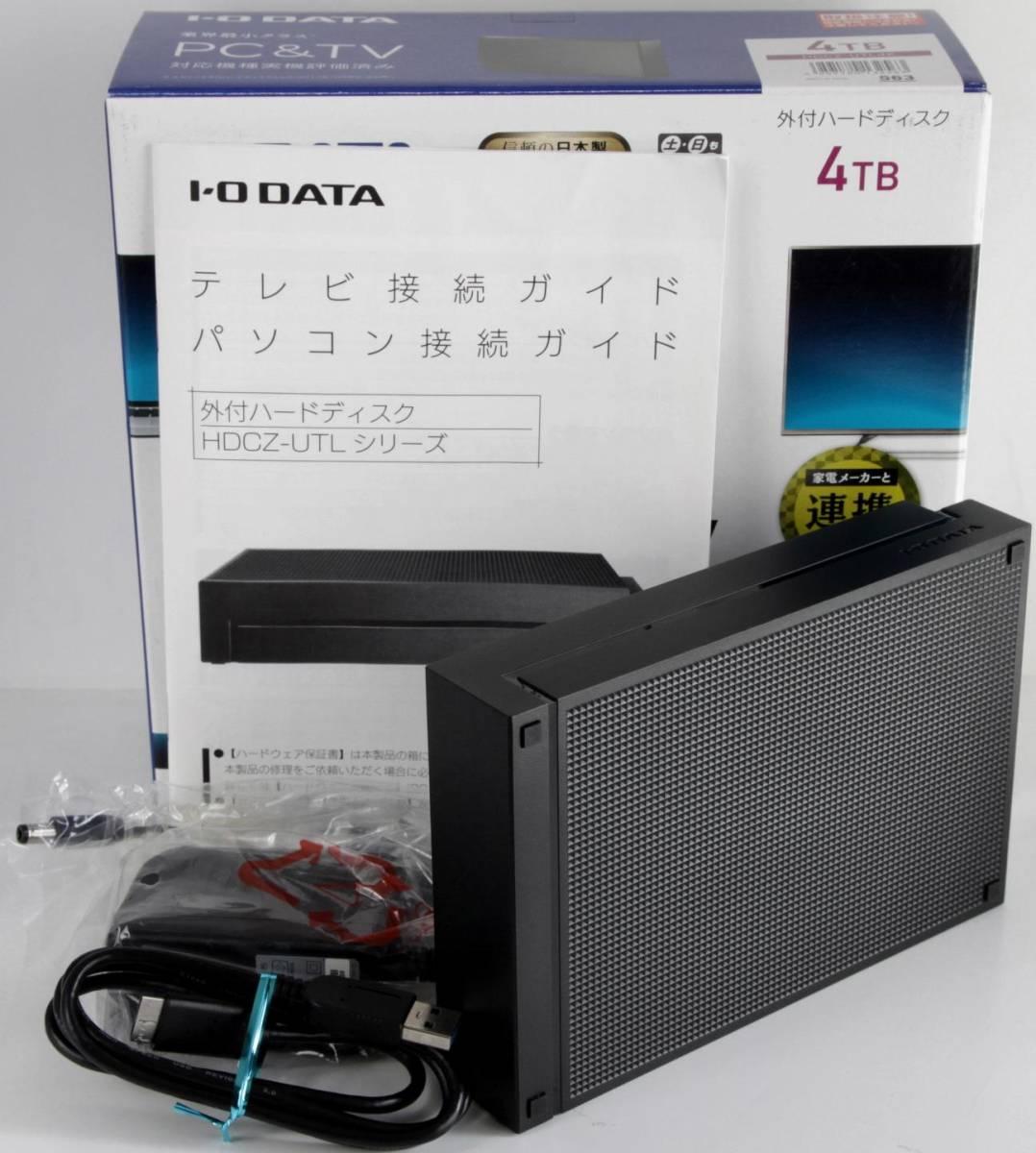 ■○I・O DATA USB3.0対応 HDCZ-UTL4K 4TB_画像2