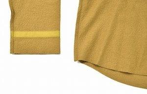 Azuma. アズマ Inside-Out Pullover インサイドアウト プルオーバー 17AW 0(M) キャメル Wool Knit ウール ニット カットソー セーター_画像6