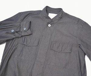 UMIT BENAN ウミットベナン KOREAN COLLAR SHIRT JACKET コリアンカラーシャツジャケット 46 STAND COLLAR SHIRTS スタンドカラー 比翼_画像3