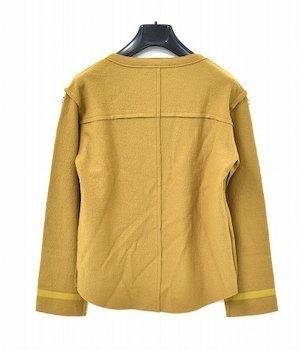 Azuma. アズマ Inside-Out Pullover インサイドアウト プルオーバー 17AW 0(M) キャメル Wool Knit ウール ニット カットソー セーター_画像2