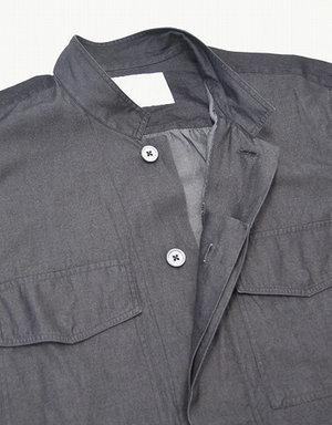 UMIT BENAN ウミットベナン KOREAN COLLAR SHIRT JACKET コリアンカラーシャツジャケット 46 STAND COLLAR SHIRTS スタンドカラー 比翼_画像4
