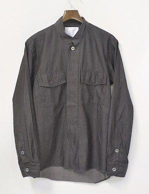 UMIT BENAN ウミットベナン KOREAN COLLAR SHIRT JACKET コリアンカラーシャツジャケット 46 STAND COLLAR SHIRTS スタンドカラー 比翼_画像1