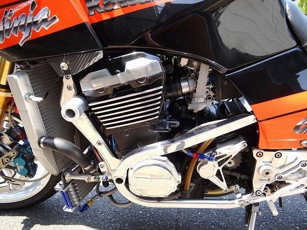 GPZ900R NINJA フルカスタム ZRX1100 エンジン換装 ZX900A改 車検32年9月迄 福岡発 ガレージ保管車!_画像8