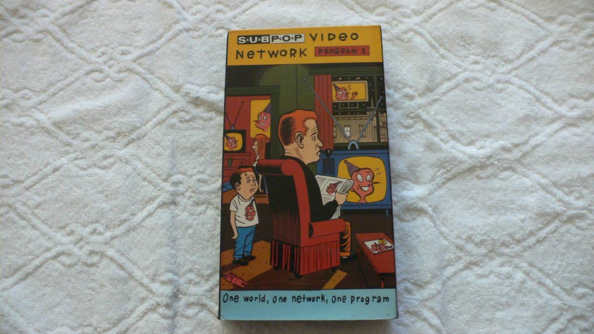 希少【Sub Pop Video Network】 PROGAM1 VHS Import 英語版 中古_画像1