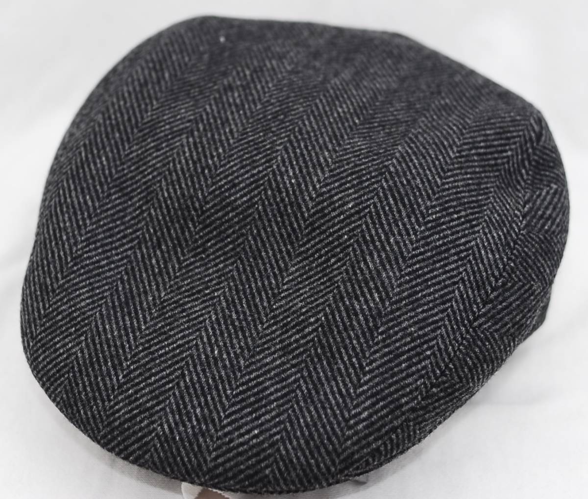 HERMES エルメス ハンチング帽 リネン カシミア グレー ツイード 60
