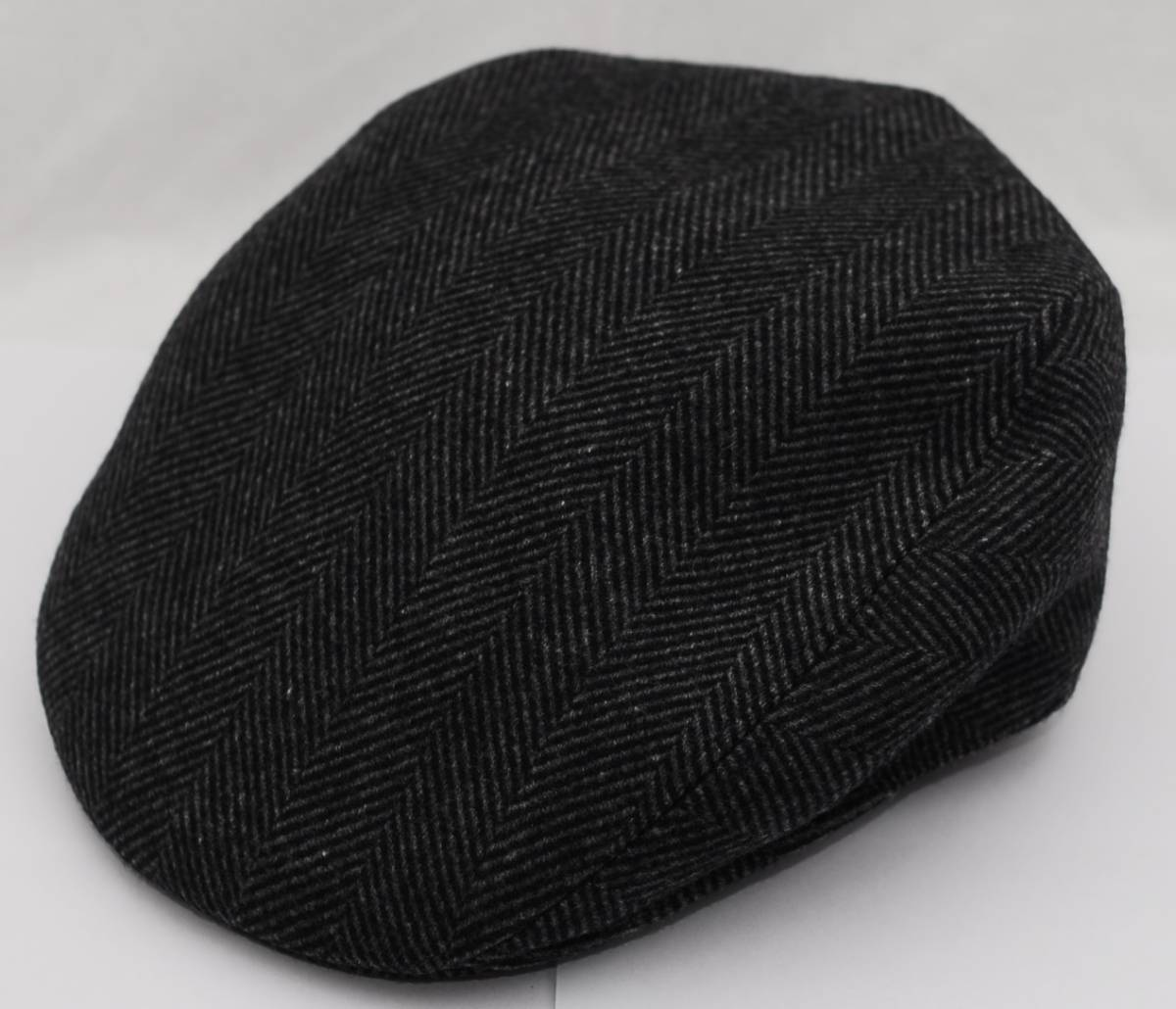 HERMES エルメス ハンチング帽 リネン カシミア グレー ツイード 60_画像7