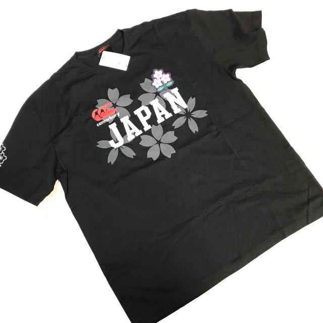 ef17be688e1b5a 【CAMTERBURY】 カンタベリー ラグビー 日本代表 サクラ Tシャツ ジャパン3L新品 黒灰