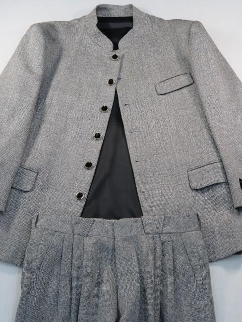 ★☆ M-79 マオカラー6Bスーツ 新品 秋冬 銀鼠系 日本製 ☆★_画像8
