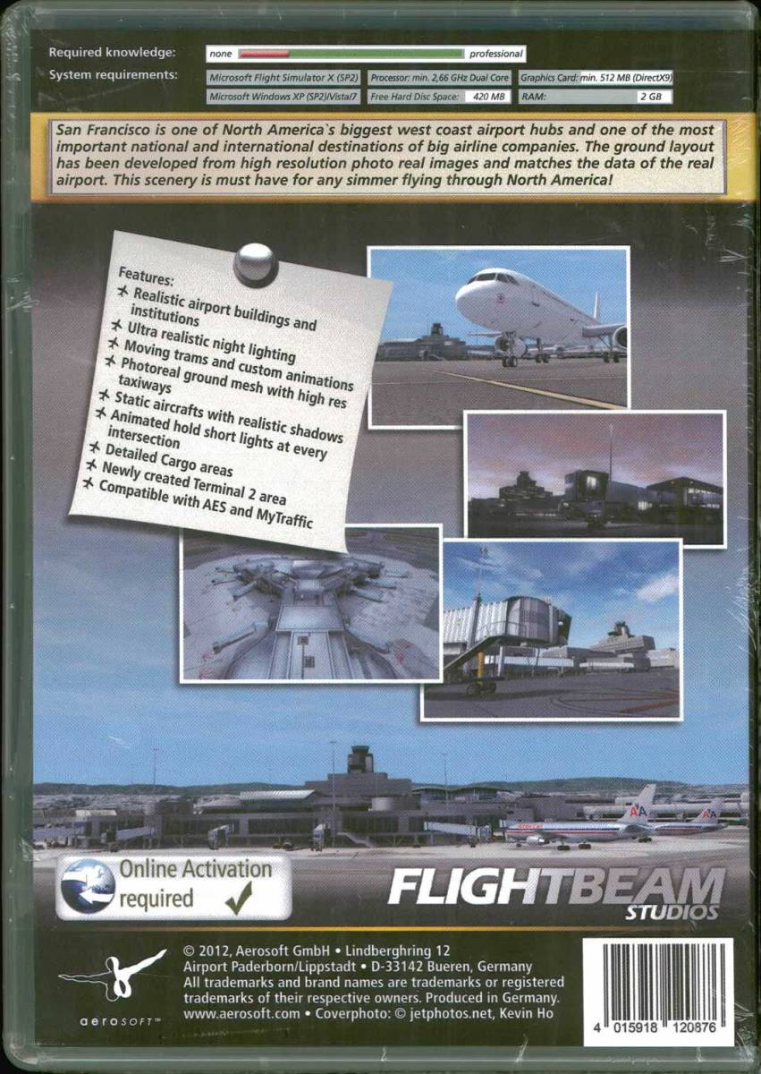 送料無料 Mega Airport San Francisco (FSX/FS2004) アドオンソフト