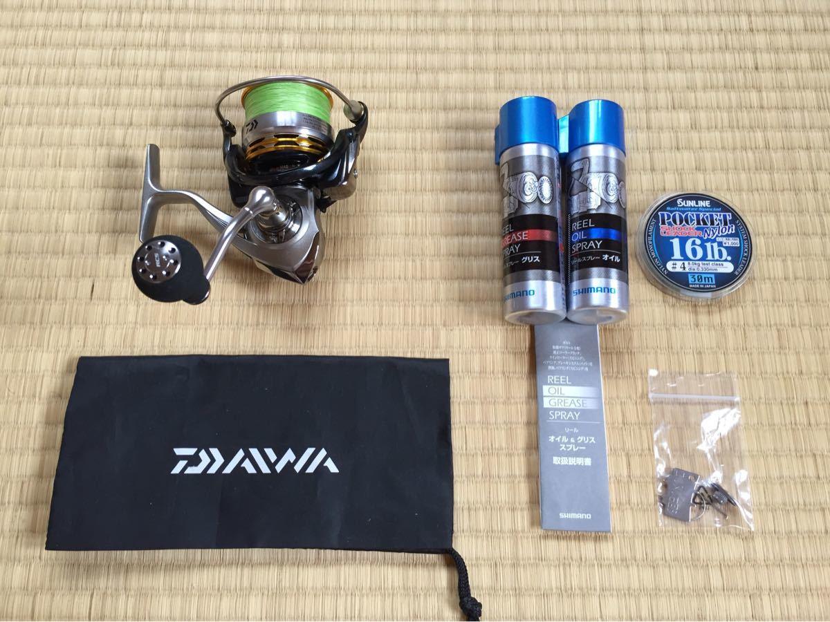 美品 Daiwa EM MS3012H パワーバンドル付き PEライン リーダー オイルグリス 手袋 ライトセット
