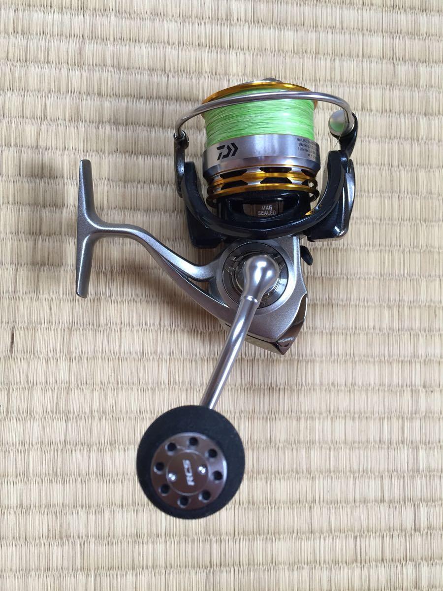 美品 Daiwa EM MS3012H パワーバンドル付き PEライン リーダー オイルグリス 手袋 ライトセット_画像2