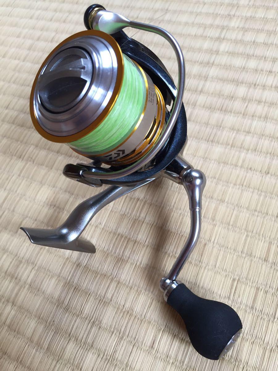 美品 Daiwa EM MS3012H パワーバンドル付き PEライン リーダー オイルグリス 手袋 ライトセット_画像4