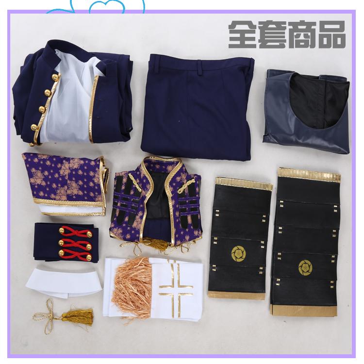 刀剣乱舞 とうらぶ風 へし切長谷部 極 コスプレ衣装+ウィッグ_画像8