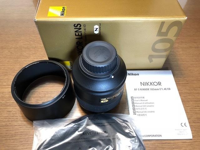 新品同様品 ニコン AF-S NIKKOR 105mm f/1.4E ED FXフォーマット用レンズ AFS105 1.4E