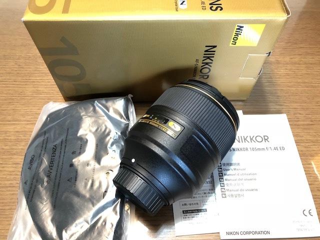 新品同様品 ニコン AF-S NIKKOR 105mm f/1.4E ED FXフォーマット用レンズ AFS105 1.4E _画像2
