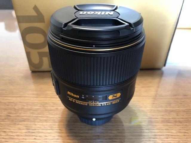 新品同様品 ニコン AF-S NIKKOR 105mm f/1.4E ED FXフォーマット用レンズ AFS105 1.4E _画像4