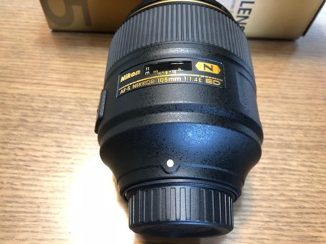 新品同様品 ニコン AF-S NIKKOR 105mm f/1.4E ED FXフォーマット用レンズ AFS105 1.4E _画像5