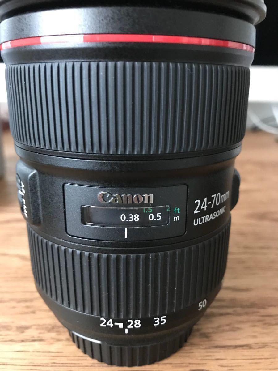 ef24-70mm f2.8l ii usm キャノン canon レンズ 2018年6月購入 超美品 新品級 フィルター付き