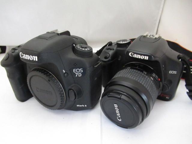 548☆Canon/キヤノン ジャンクセット EOS kiss X2 EF 35-80mm 4-5.6/EOS 7D Mark II カメラ/1円~