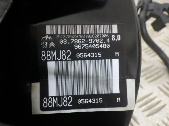 T9HN02 プジョー308 GTライン H29年 ブレーキブースタ マスターシリンダ 中古 即決_画像8