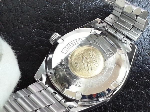 大野時計店 キングセイコー 45-7001 手巻 1970年7月製造 金色メダル 36000ビート 希少_画像5